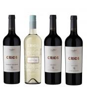 Kit Vinho Crios Susana Balbo Seleção 4 Rótulos: Red Blend, Cabernet Sauvignon, Malbec e Dulce Natural Torrontés