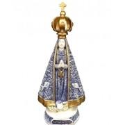 N Senhora Aparecida Milagre Peixe Azul/Dourado 22cm RB04194