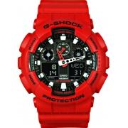 Relógio Casio G-Shock Vermelho Anadigi Masculino GA-100B-4ADR