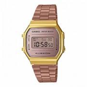 Relógio Casio Vintage Gold Digital Unissex A168WECM-5DF