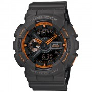 Relogio Masculino Casio G-shock Anadigi Ga-110ts-1a4dr - Preto/laranjado