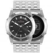 Relógio Technos Masculino Aço Curvas Duplo 1S13CS/1P