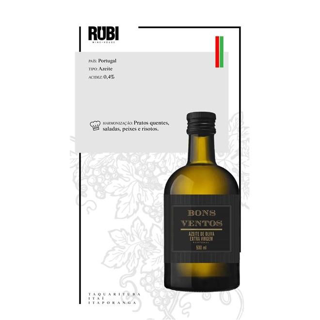 Azeite de Oliva Português Extra Virgem Bons Ventos 500ml