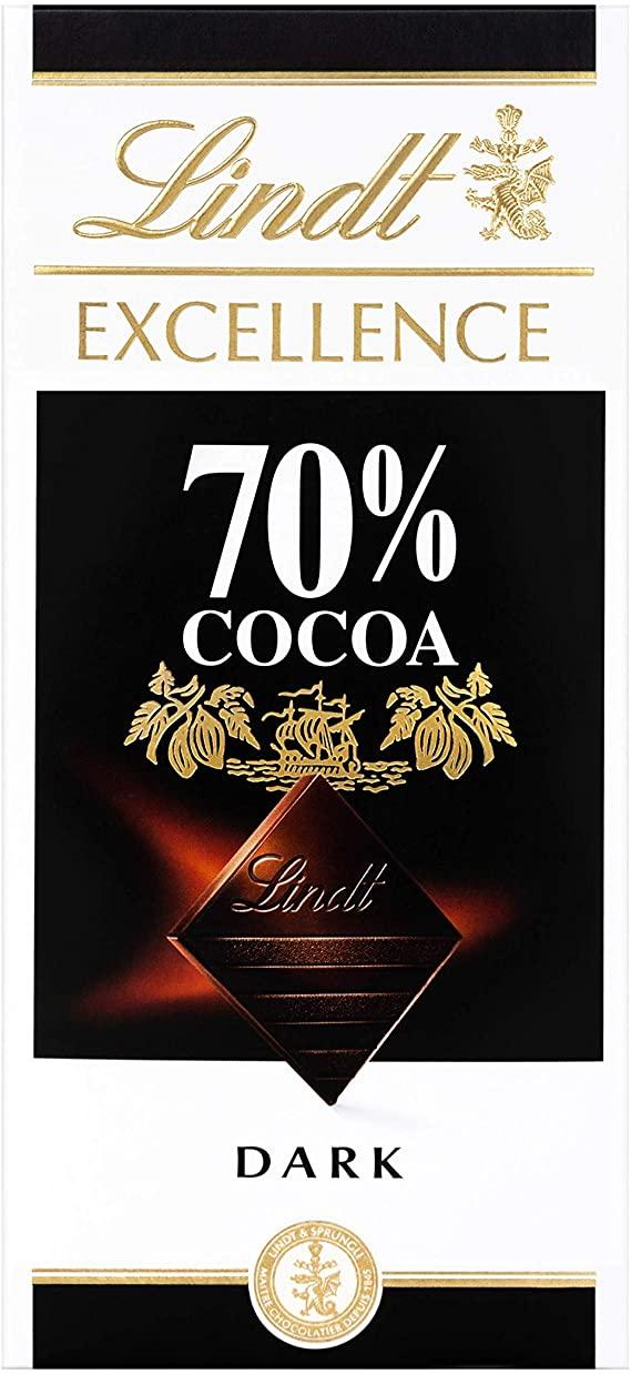 Barra de chocolate Lindt 70% Amargo 100g Dark Chocolate