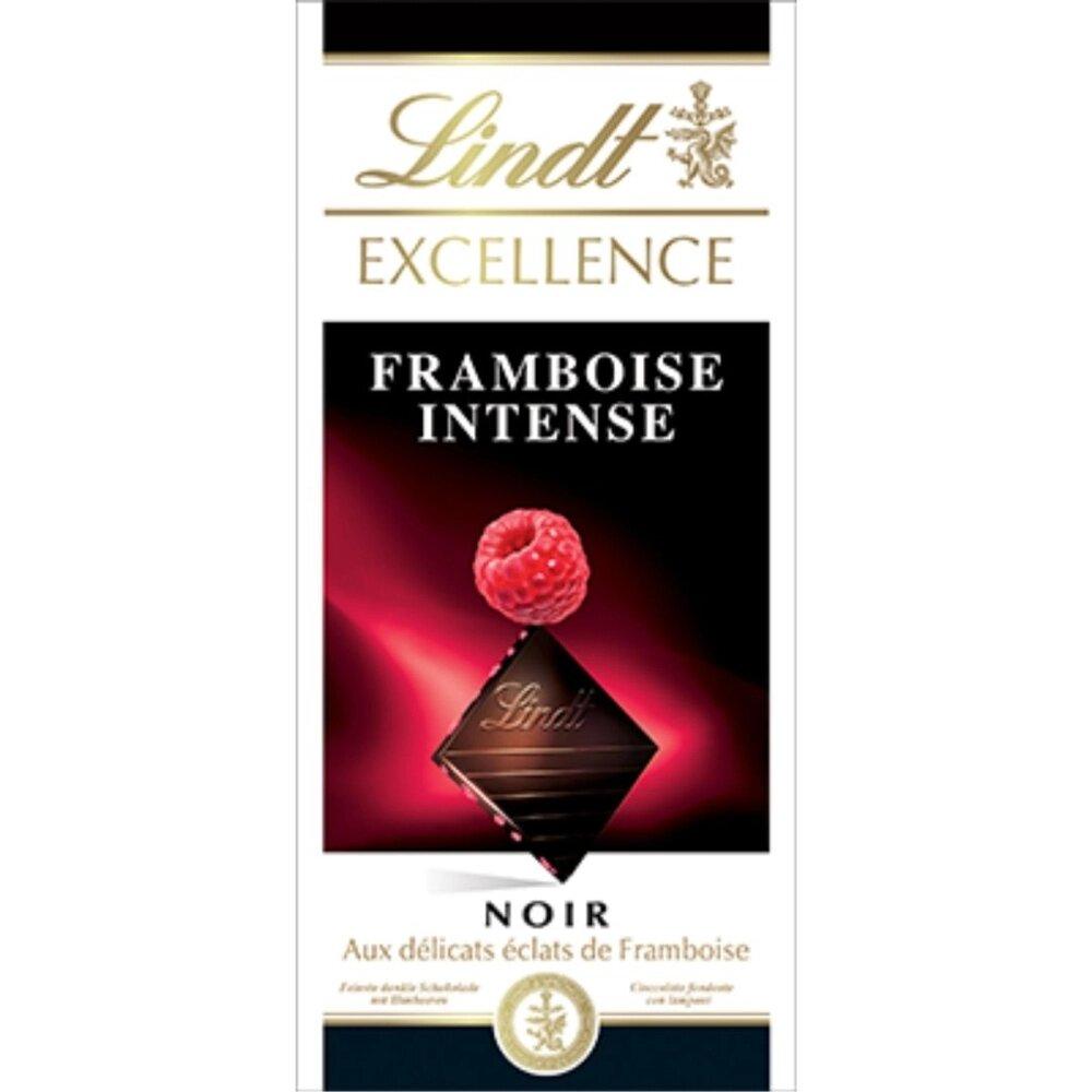 Barra de Chocolate Lindt Excellence Framboesa Intense 100g Dark