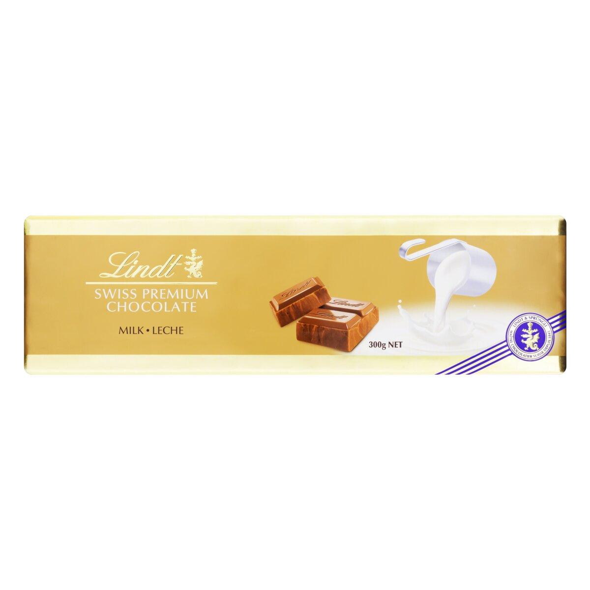 Barra de Chocolate Lindt Swiss Gold Bar Milk 300g