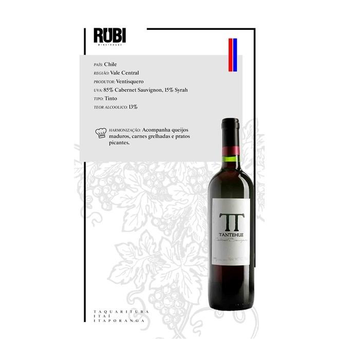 Caixa com 6 Vinho Ventisquero Tantehue Cabernet Sauvignon 2019 750ml