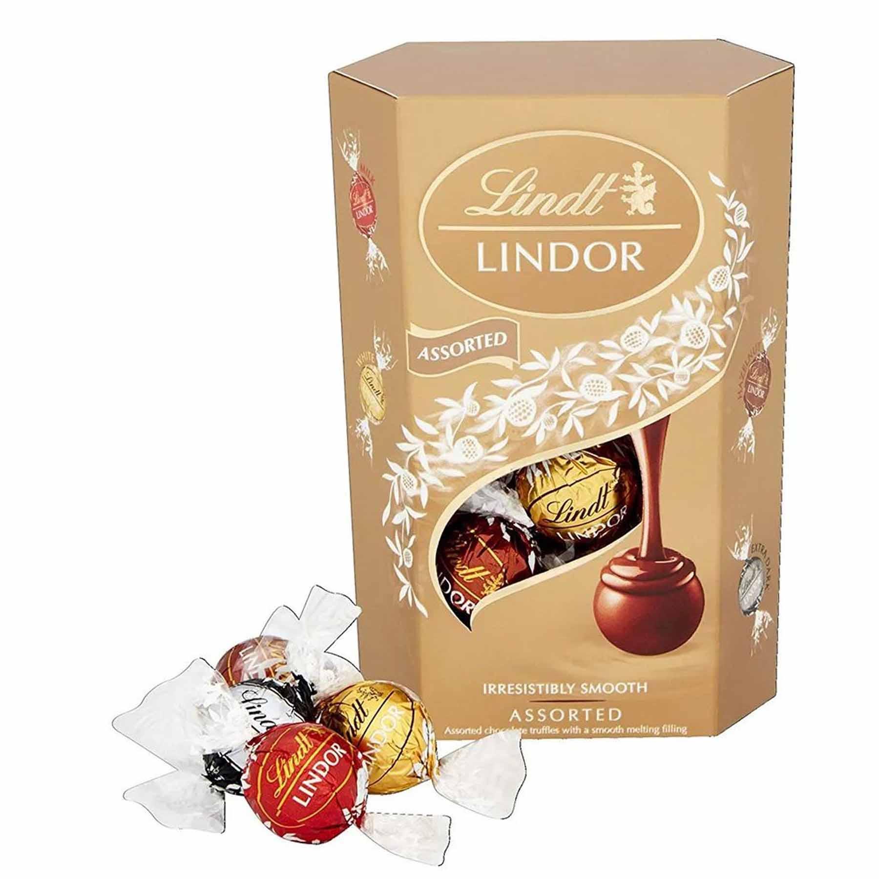 Caixa de Chocolates Lindt Lindor Balls Sortidas 200g