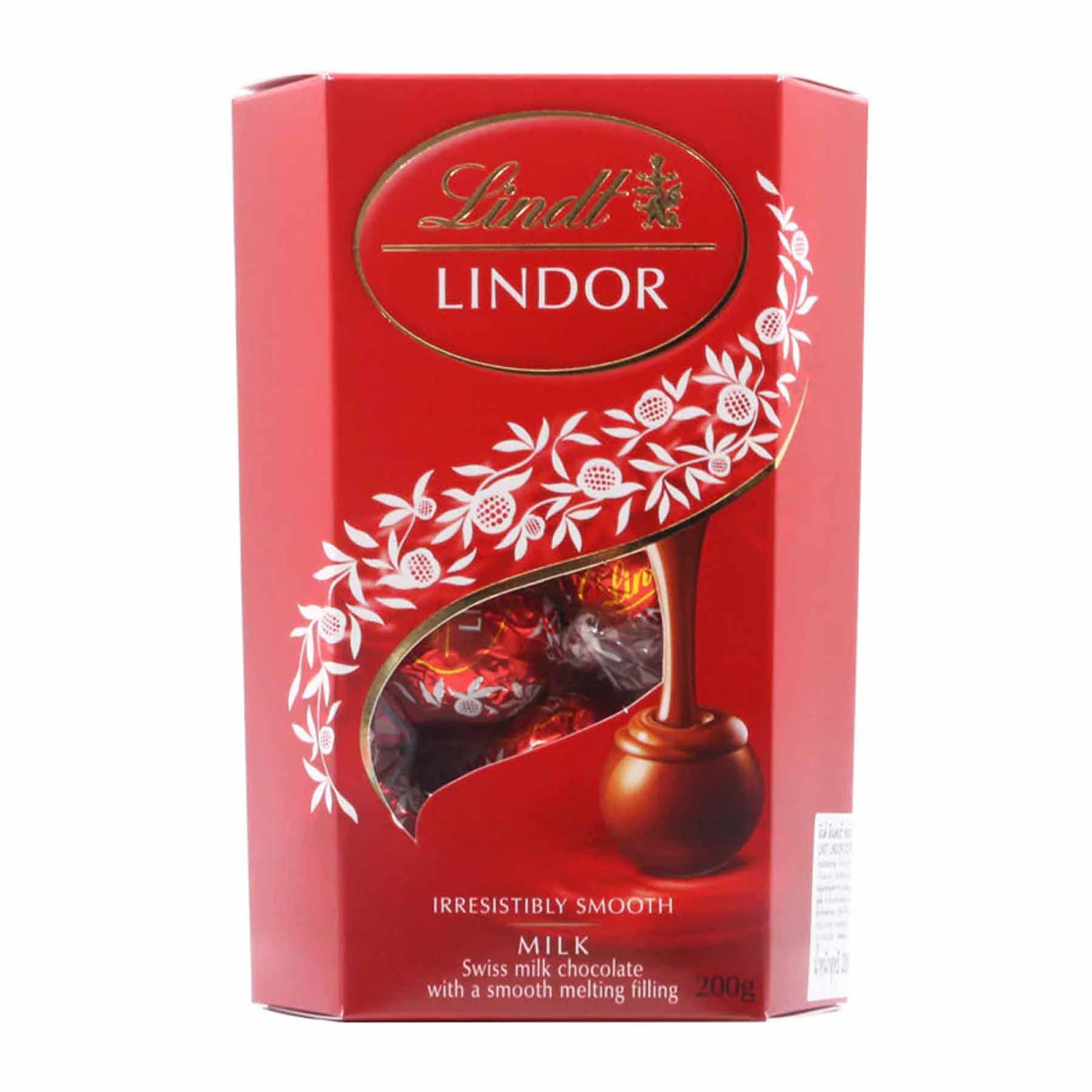 Caixa de Chocolates Lindt Milk Lindor Balls 200g