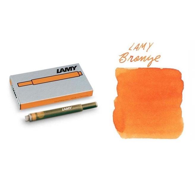 Caixa de Refil Tinteiro Bronze Negro Lamy 5 unidades 1,5ml 1633527