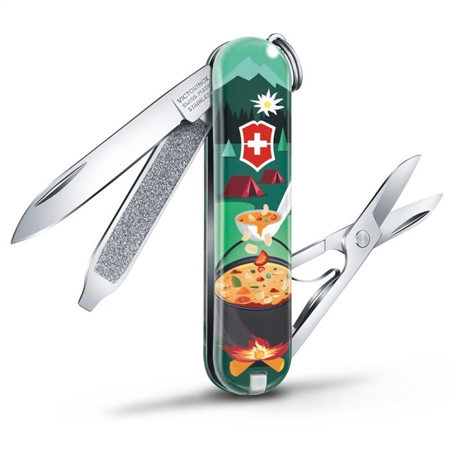 Canivete Classic Victorinox Burguer Mountain Dinner Limitada 2019 58 mm 0.6223.L1907