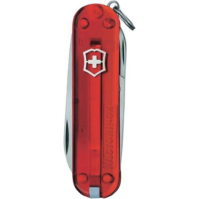 Canivete Suíço Victorinox Classic Vermelho Transparente 58 mm 0.6223.T