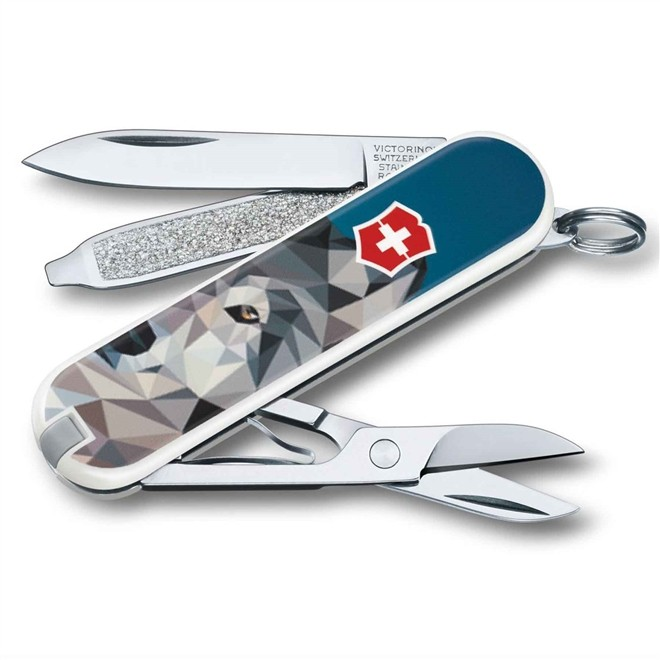 Canivete Suiço Victorinox Classic Wolf Coming Home 58 mm 0.6223.L1704