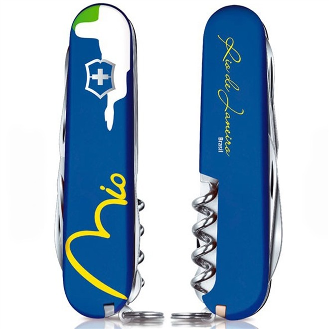 Canivete Suíço Victorinox Climber Azul Rio Edição Limitada 91 mm 1.3703.2RIO2