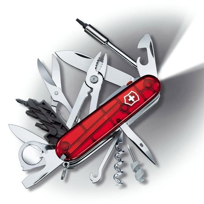 Canivete Suíço Victorinox Cybertool 36 Vermelho Translucido 91 mm 1.7925.T