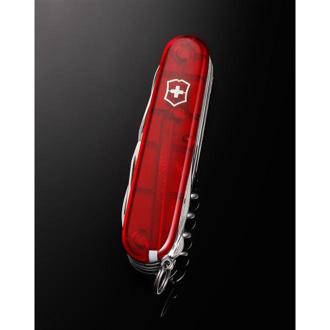 Canivete Suíço Victorinox Huntsman Vermelho Translúcido 91 mm 1.3713.T