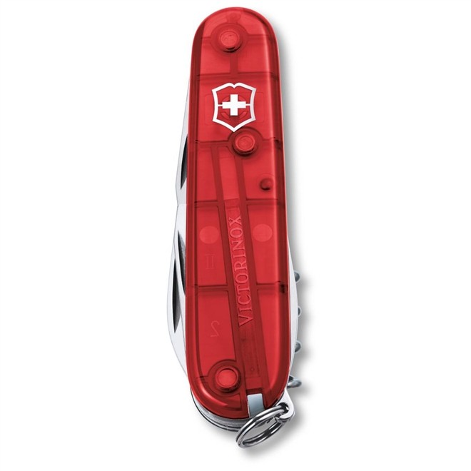 Canivete Suíço Victorinox Spartan Vermelho Translúcido Blister 91 mm 1.3603.TB1