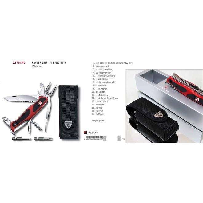 Canivete Victorinox Suiço Ranger Grip 174 Vermelho 130mm 0.9728.WC