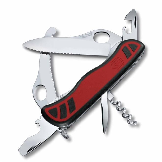 Canivete Victorinox Trailmaster One Hand Dual Pro 10 funções vermelho e preto 11,1 cm 0.8371.MWC