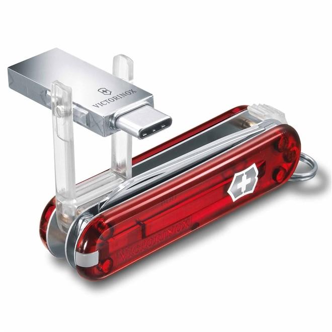 Canivete Victorinox @work Vermelho USB 16GB Translúcido 58mm 4.6235.TG16B1