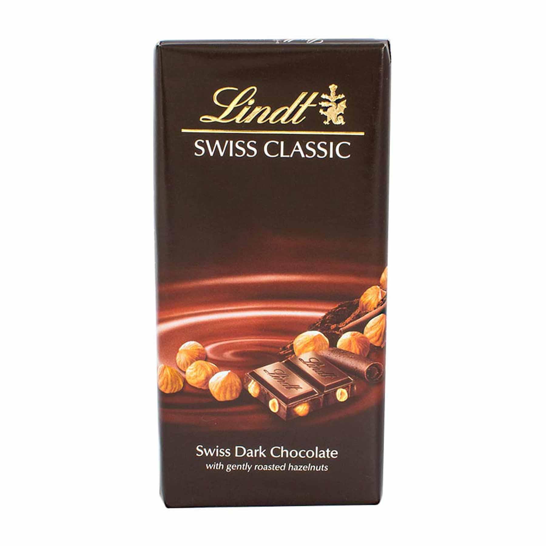 Chocolate Dark Hazelnut Chocolate Lindt Swiss Classic 100g