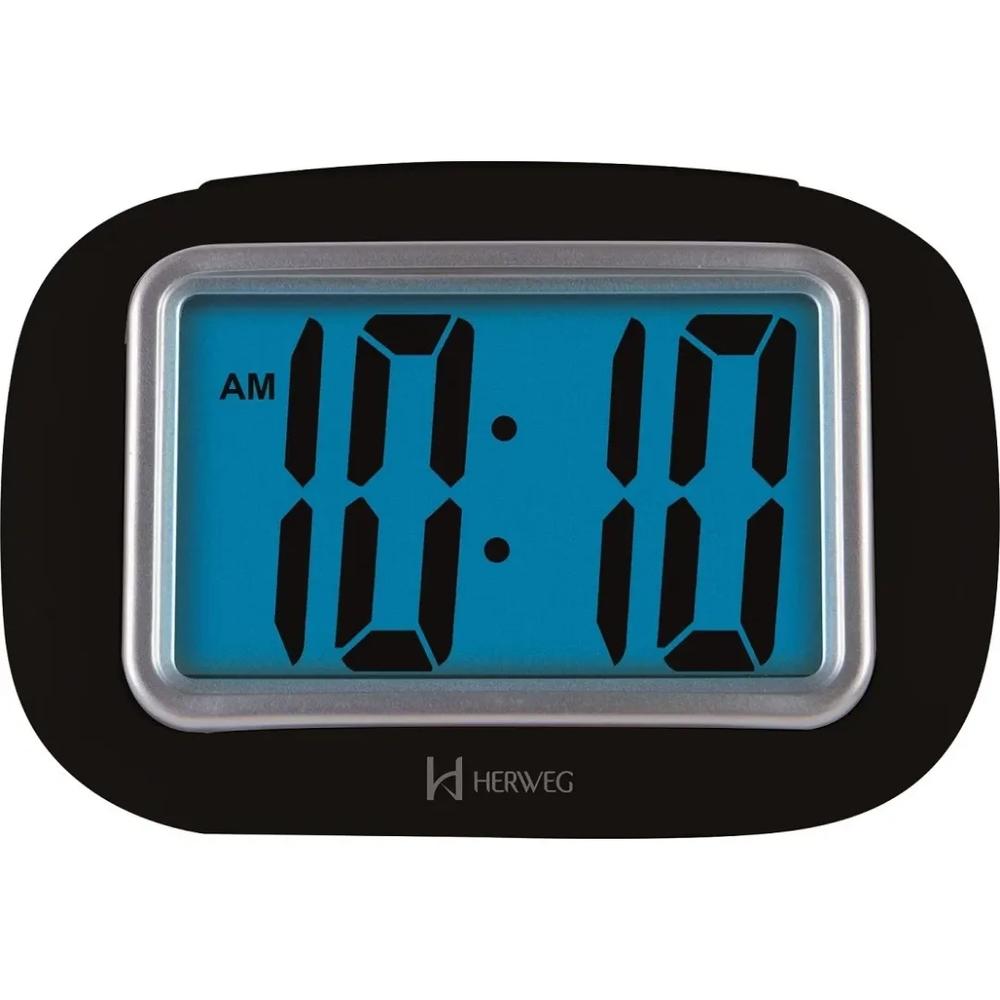 Despertador Digital Preto 2976 Herweg