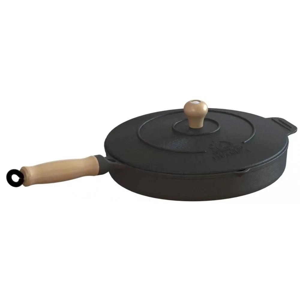 Frigideira de ferro com tampa 22cm Libaneza