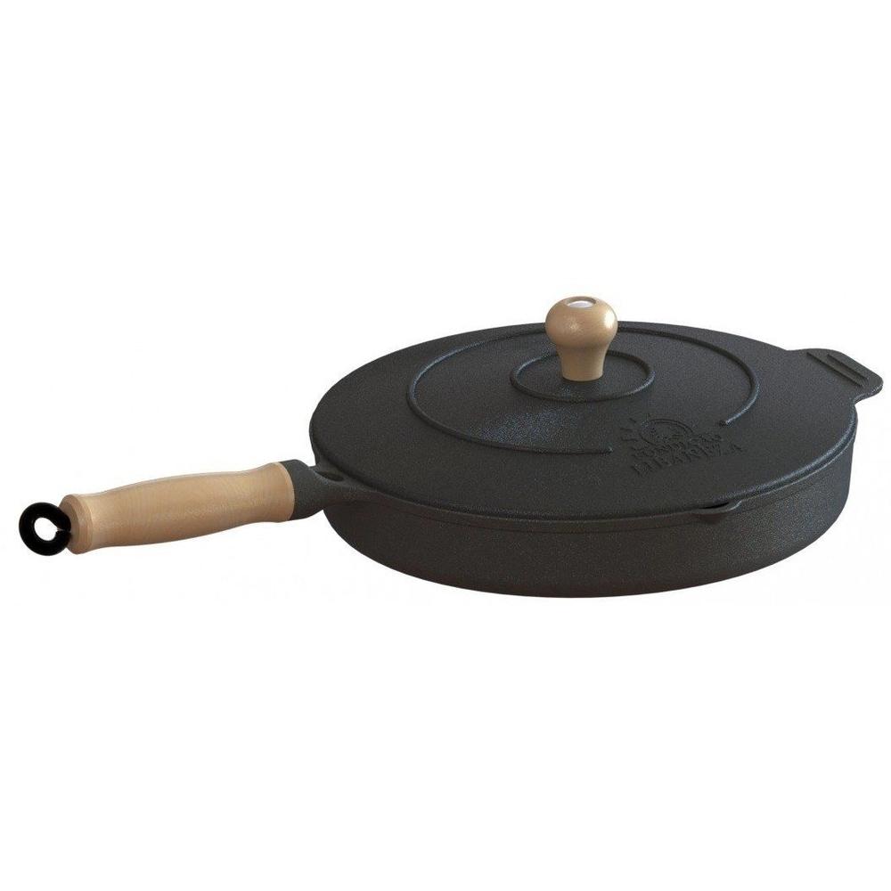 Frigideira de ferro com tampa 26cm Libaneza