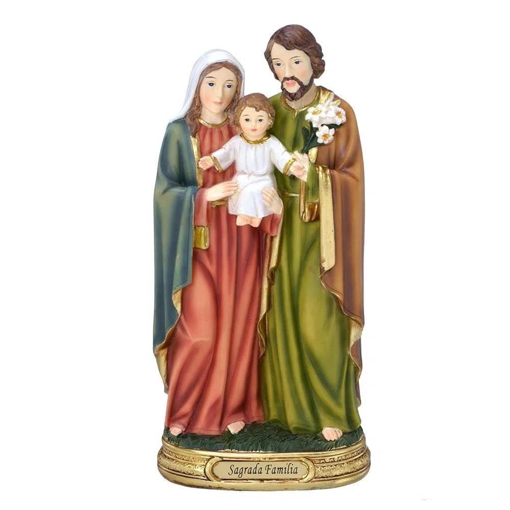 IMAGEM SAGRADA FAMILIA 20CM EM RESINA MABRUK 1558-20264