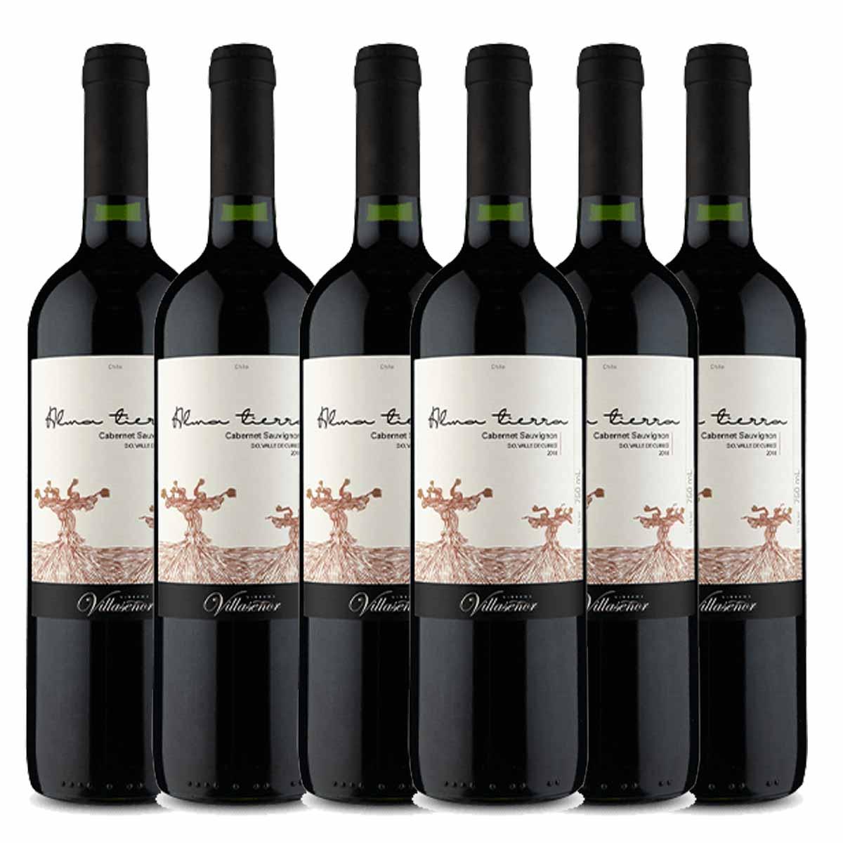 Kit6 Vinho Tinto Chileno Alma Tierra Cabernet Sauvignon 2018