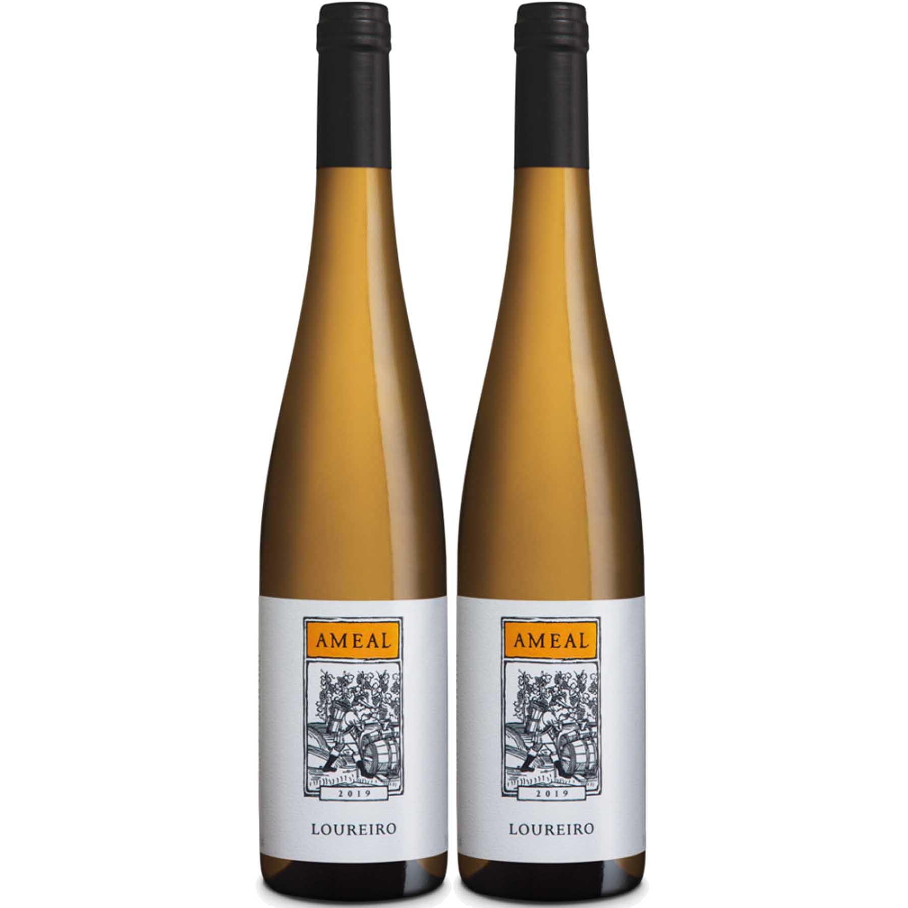 Kit 2 Vinho Branco Português Verde Ameal Loureiro 750ml 2019