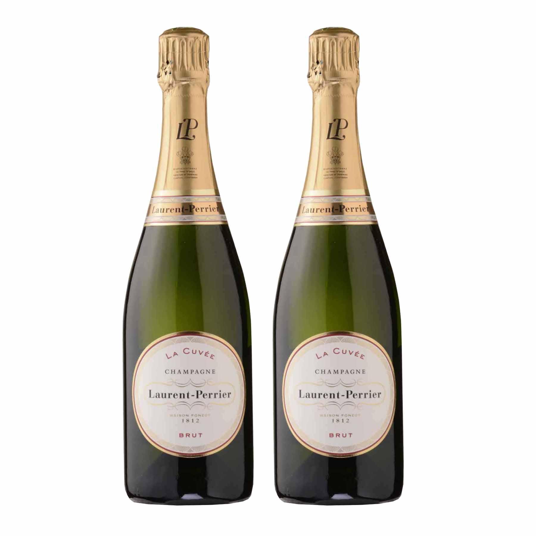 Kit 2 Vinho Champagne Branco Francês Laurent Perrier La Cuvee Brut