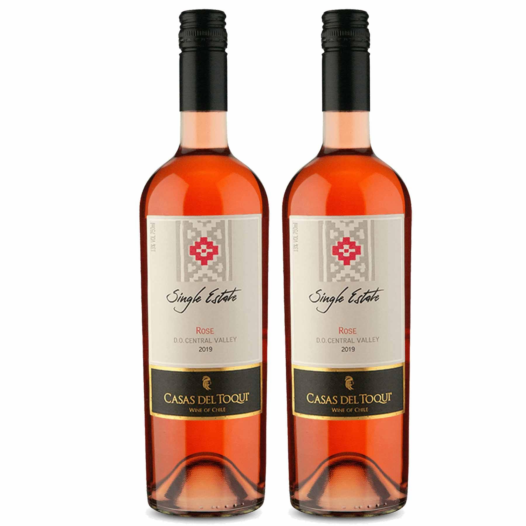Kit 2 Vinho Chileno Rosé Casas Del Toqui Cabernet Sauvignon