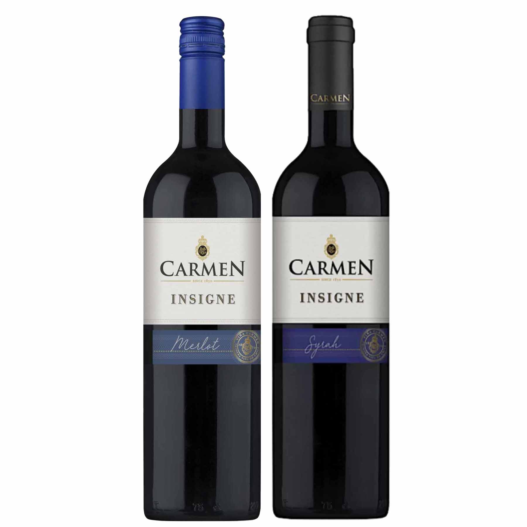 Kit 2 Vinhos Chilenos Carmen Insigne Syrah e Merlot