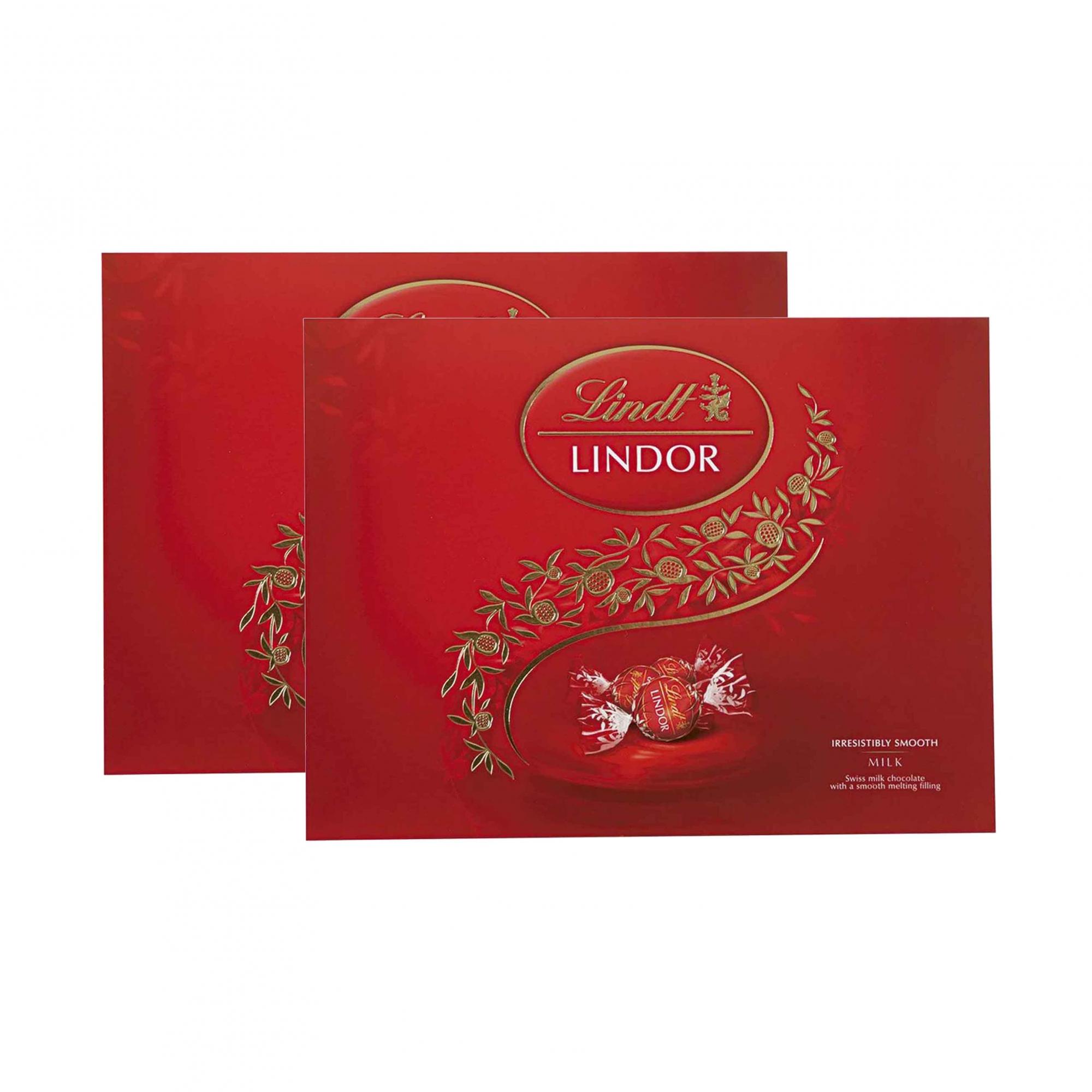 Kit 2x Caixa de Chocolates Lindt Lindor Balls Vermelho 300g