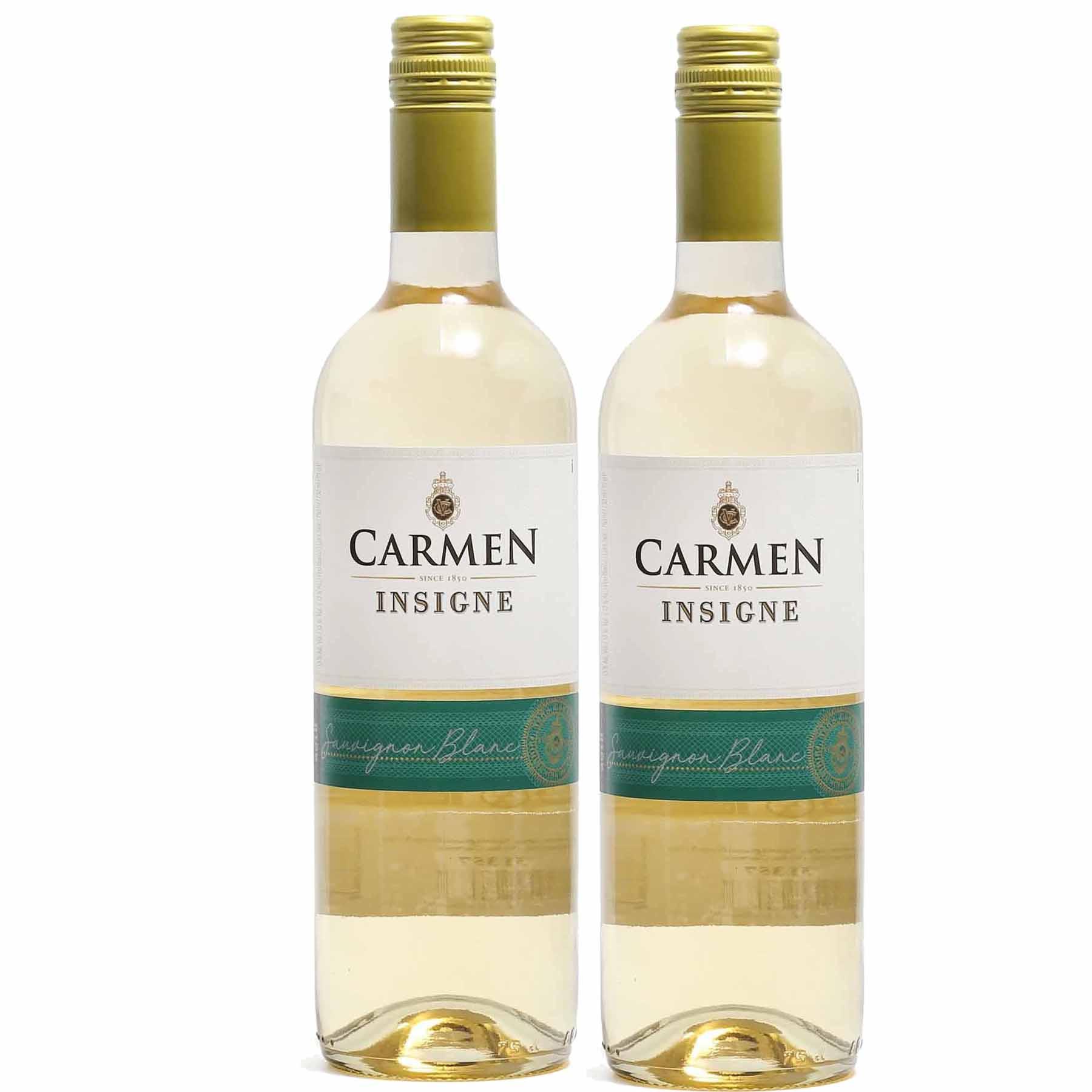 Kit 2x Vinho Branco Chileno Carmen Insigne Sauvignon Blanc 2018 750ml
