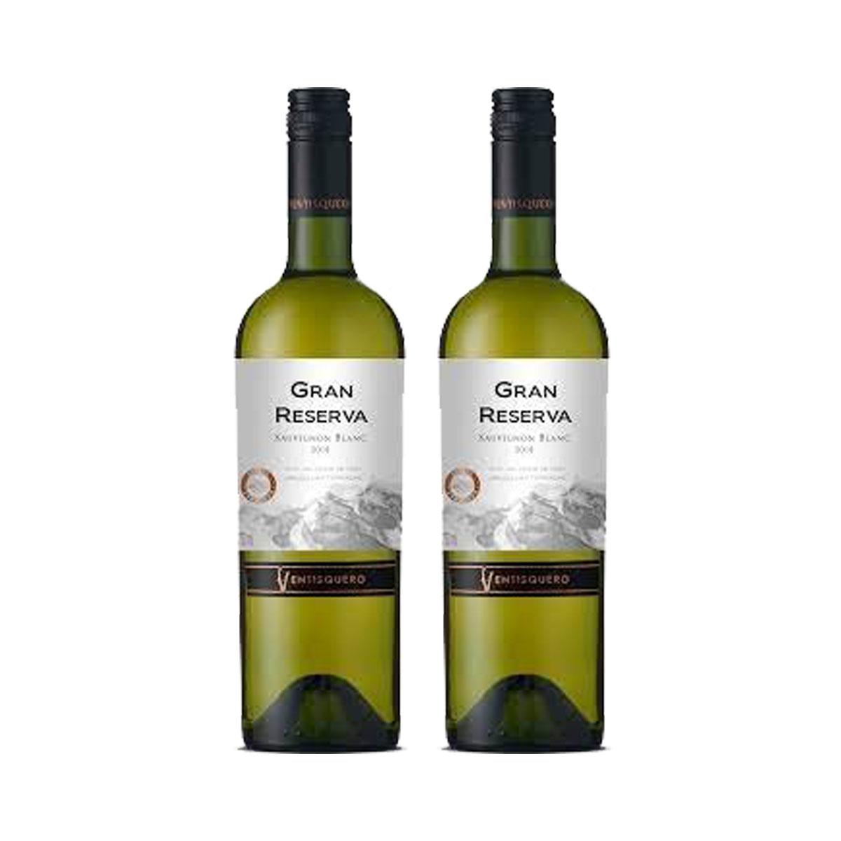Kit 2x Vinho Branco Chileno Vestisquero Gran Reserva Sauvignon Blanc 750ml 2018