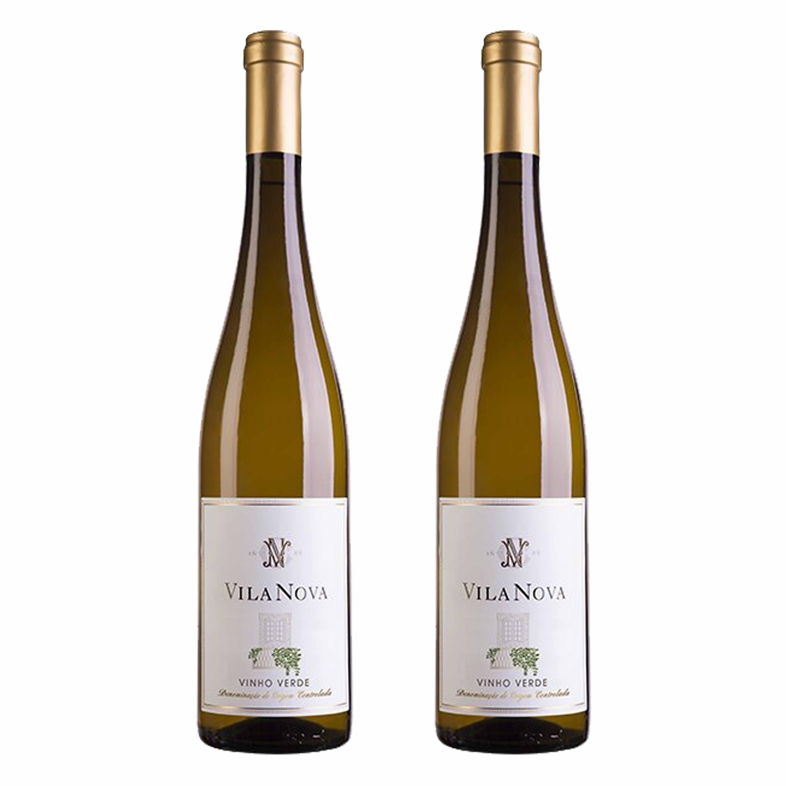 Kit 2x Vinho Branco Português Vila Nova Vinho Verde Blend 2019 750ml
