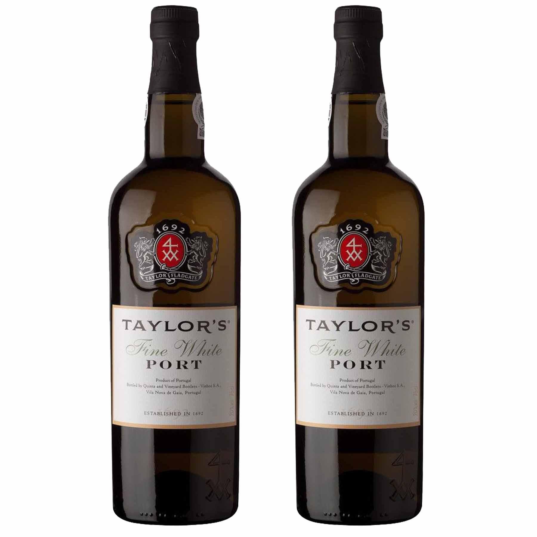 Kit 2x Vinho do Porto Branco Taylor's White Fine Douro 750ml