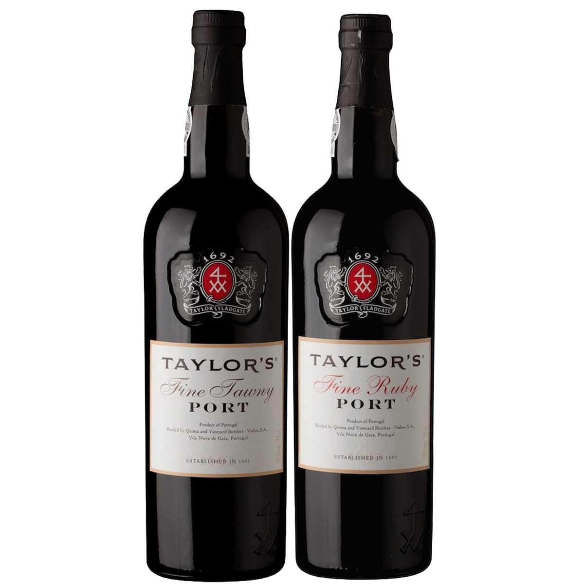 Kit 2x Vinho do Porto Tinto Ruby e Tawny Taylor's Português