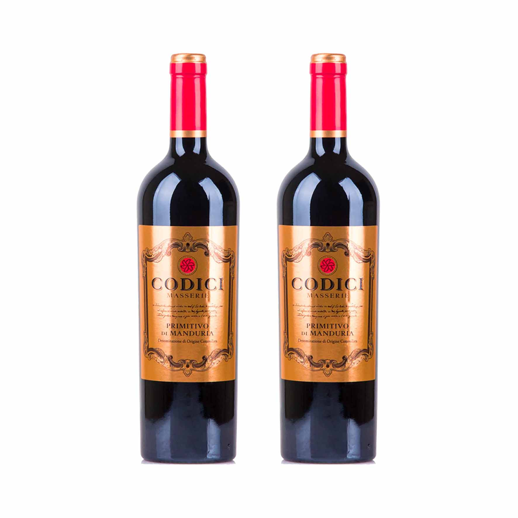 Kit 2x Vinho Italiano Tinto Primitivo di Manduria Codici 2018