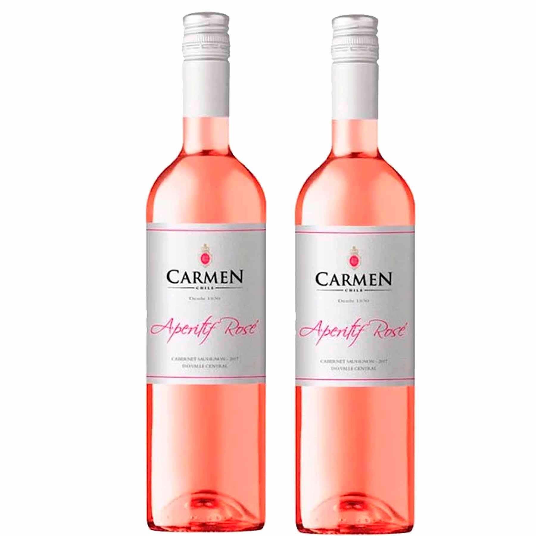 Kit 2x Vinho Rose Chileno Carmen Insigne Aperitif Cabernet Sauvignon 2019