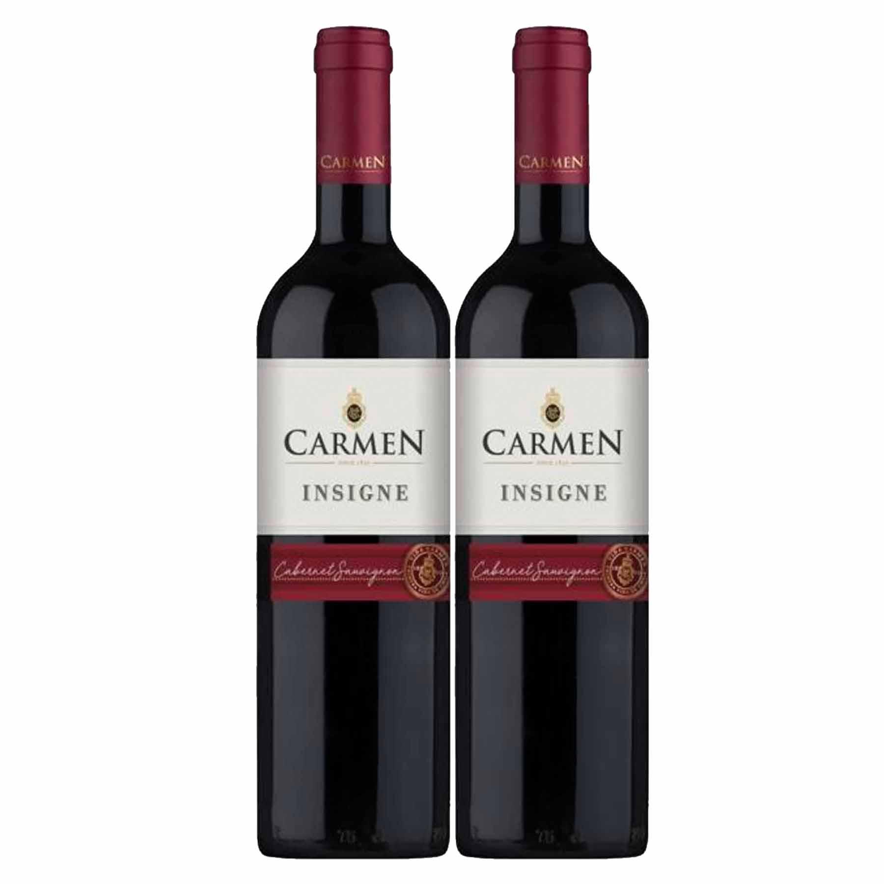 Kit 2x Vinho Tinto Chileno Carmen Insigne Cabernet Sauvignon 2018