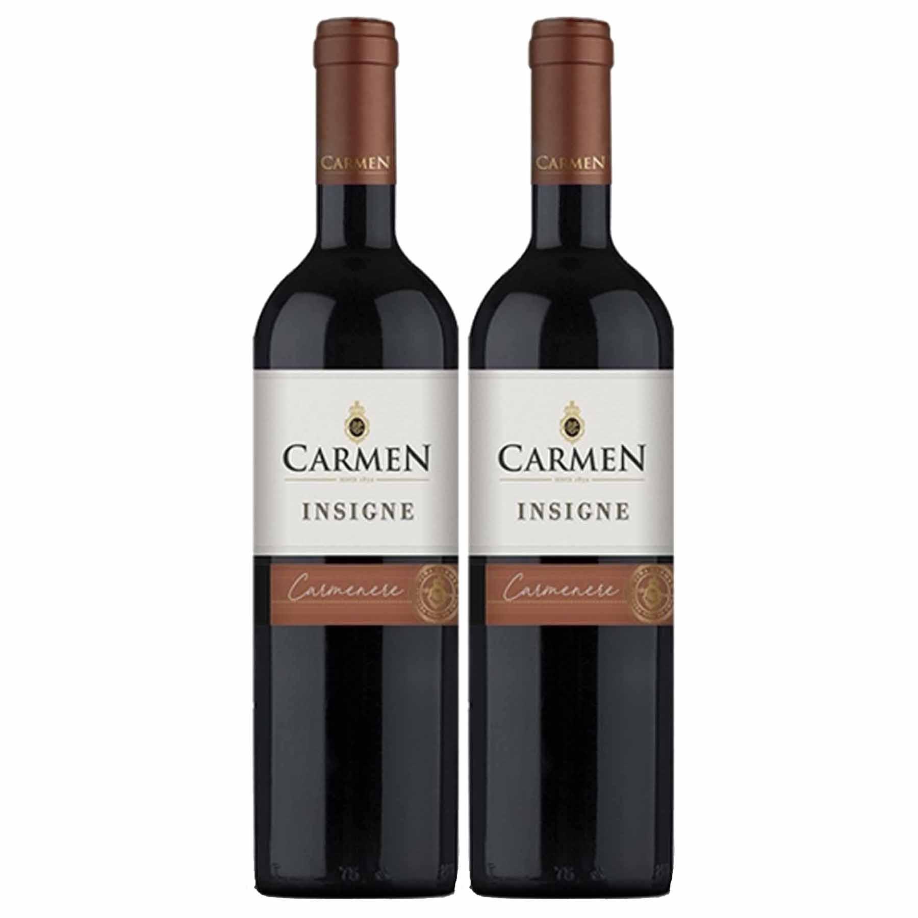 Kit 2x Vinho Tinto Chileno Carmen Insigne Carmenere 2018
