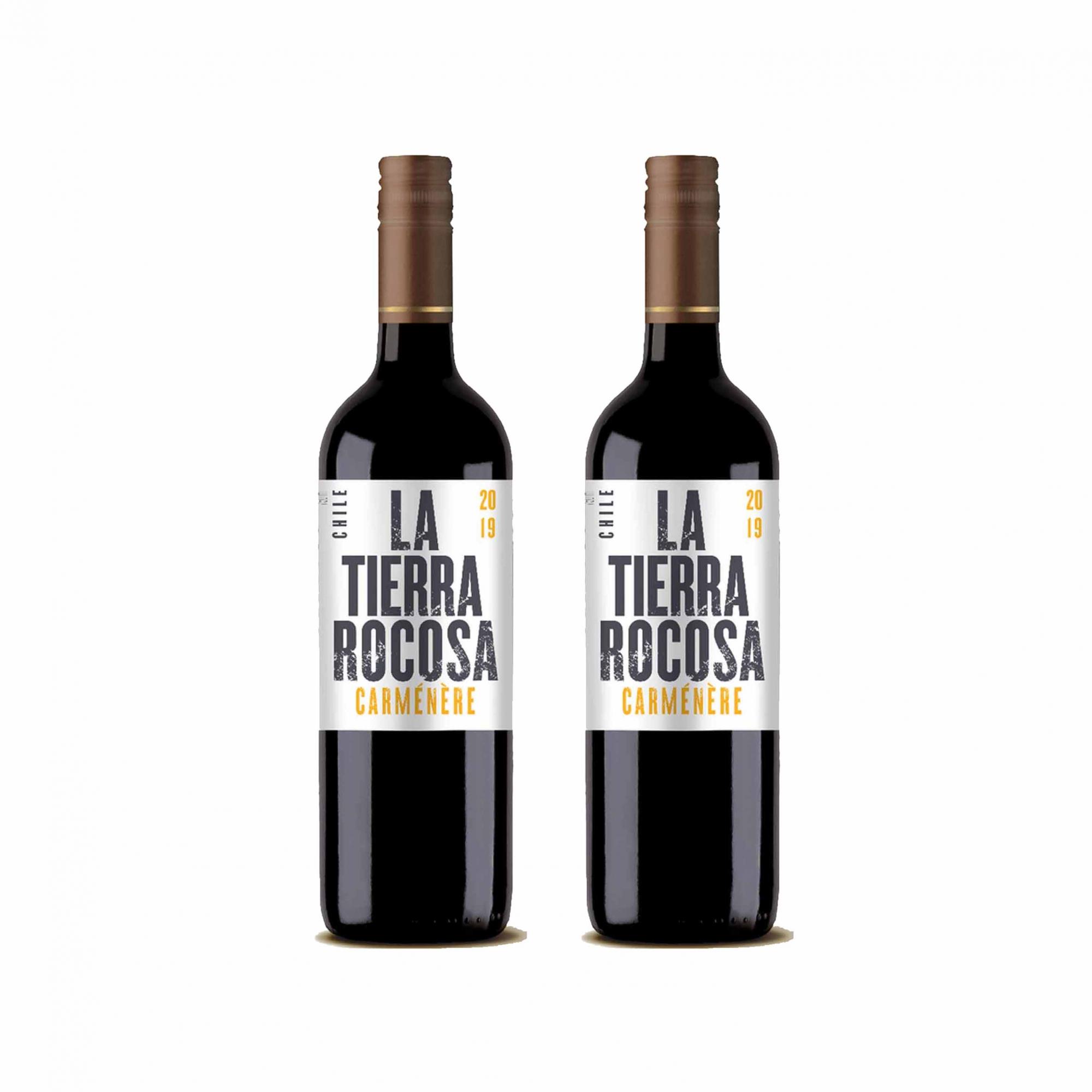 Kit 2x Vinho Tinto Chileno La Tierra Rocosa Camenere 2020