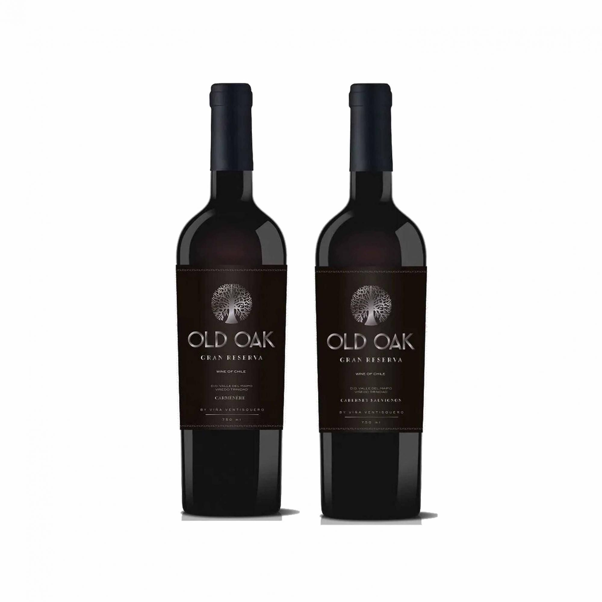Kit 2x Vinho Tinto Chileno Old Oak Gran Reserve Cabernet Sauvignon/Carmenere 2018