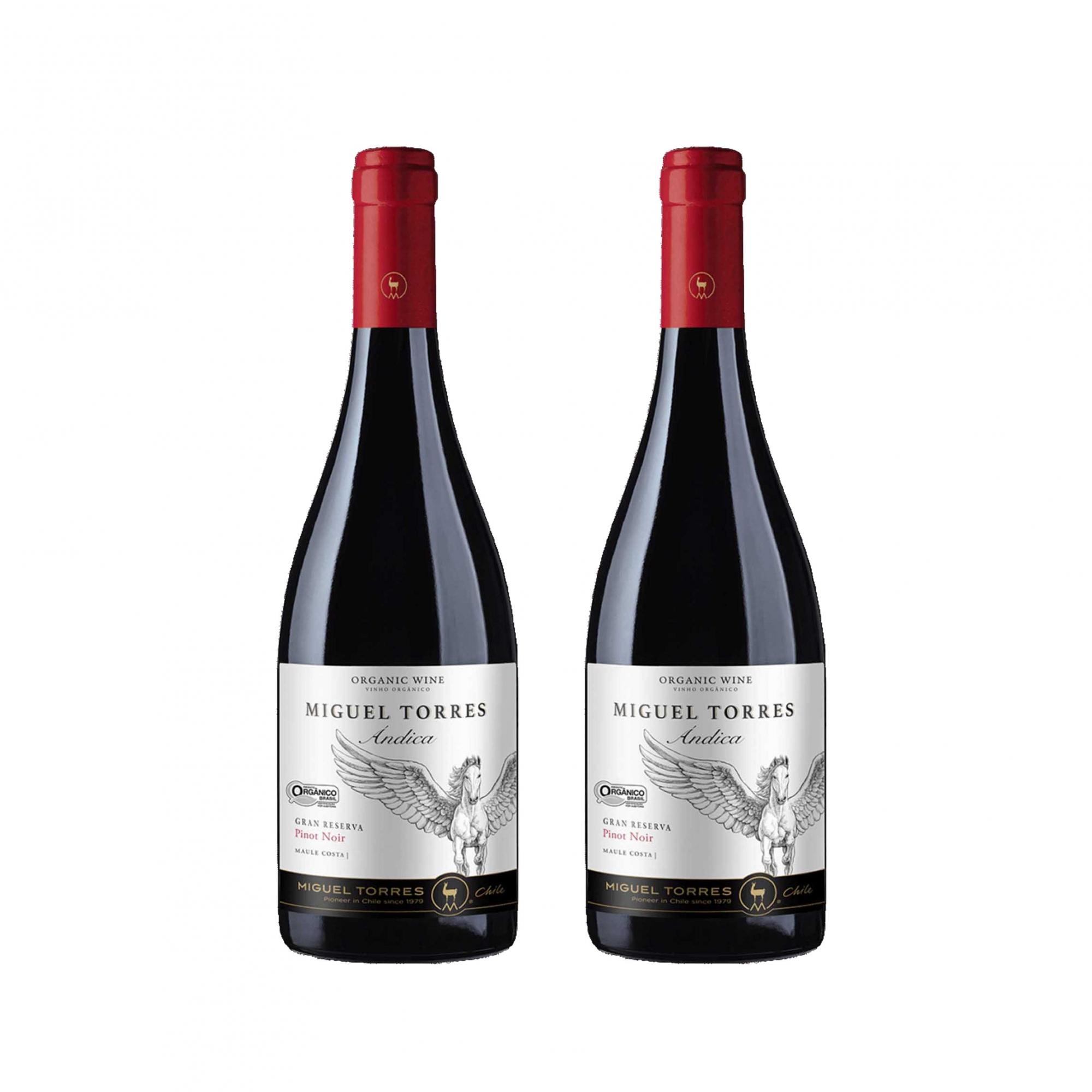 Kit 2x Vinho Tinto Chileno Orgânico Miguel Torres Pinot Noir 2019