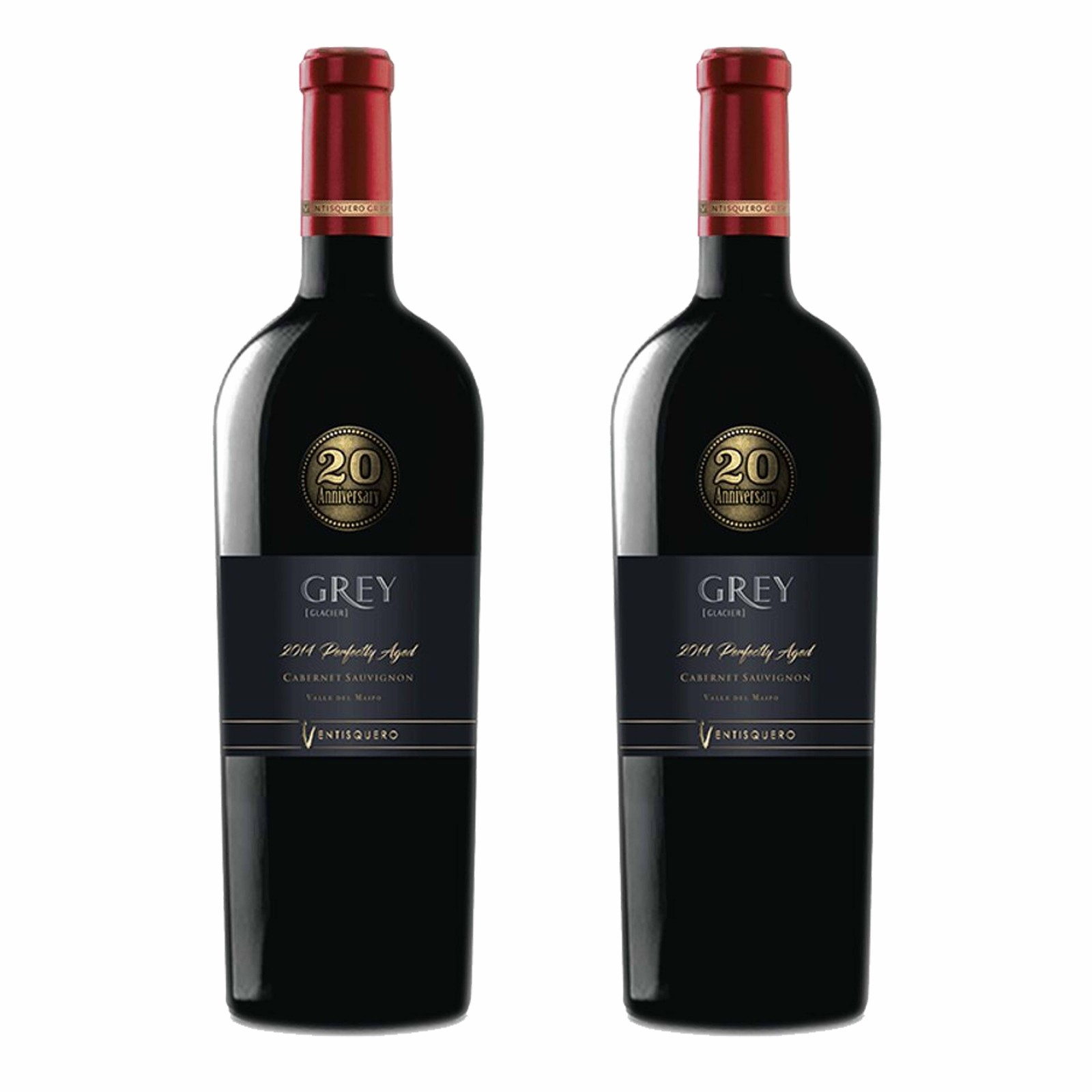 Kit 2x Vinho Tinto Chileno Ventisquero Grey Special Edition Cabernet Sauvignon 2014 750ml