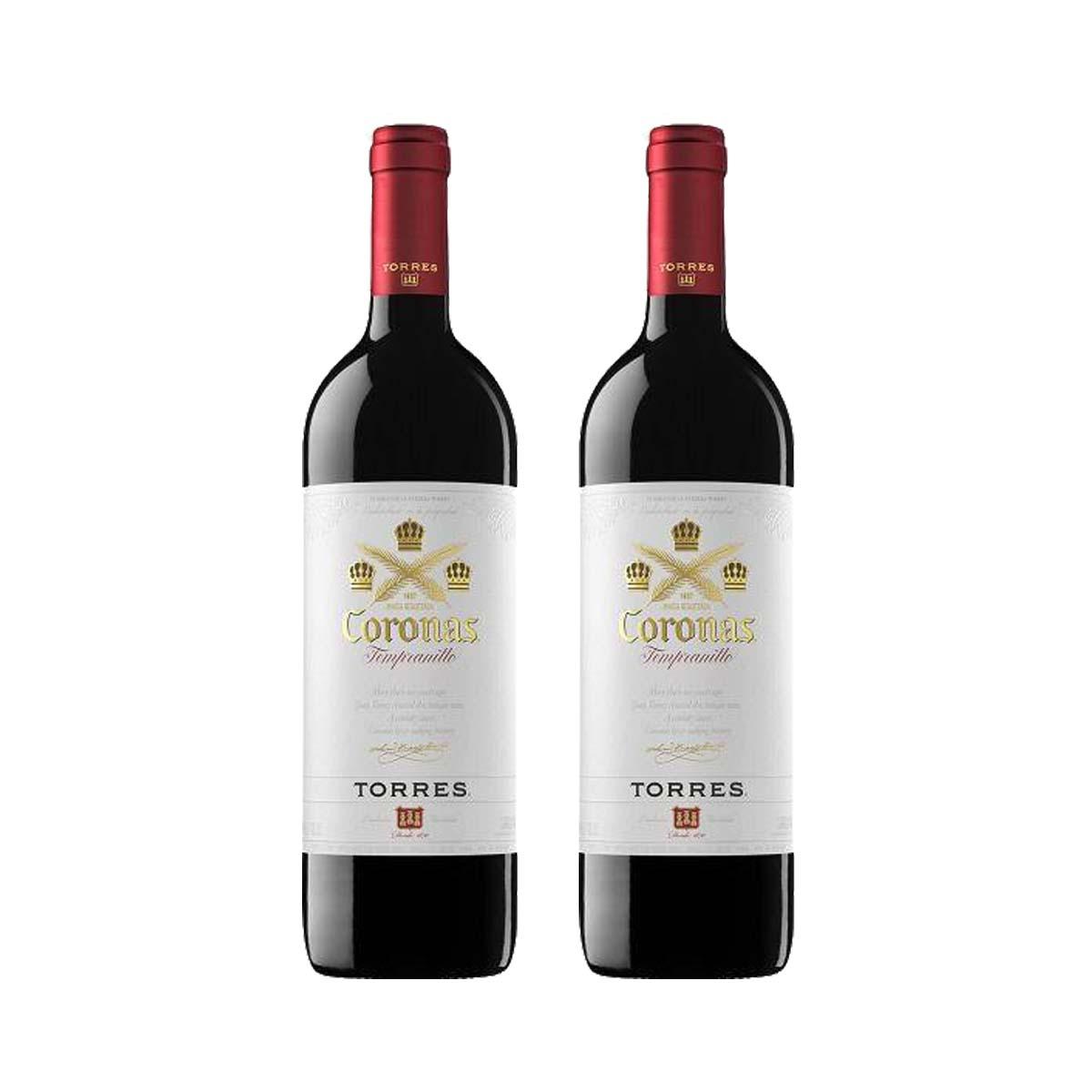 Kit 2x Vinho Tinto Espanhol Torres Coronas Tempranillo 750ml 2018