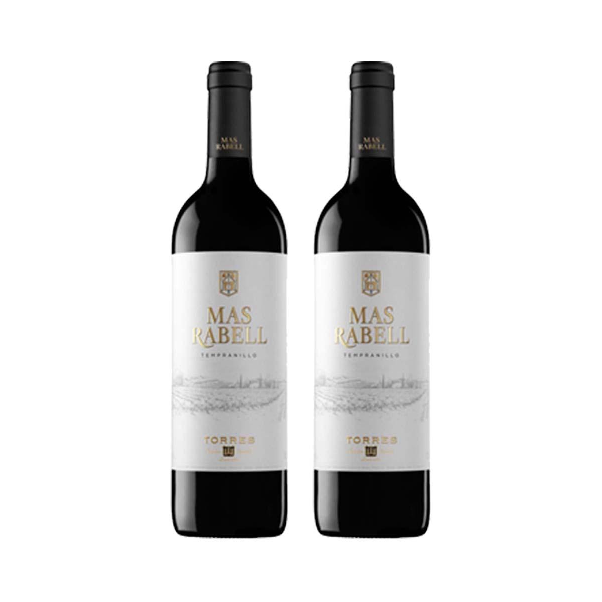 Kit 2x Vinho Tinto Espanhol Torres Mas Rabell Tempranillo 750ml 2018